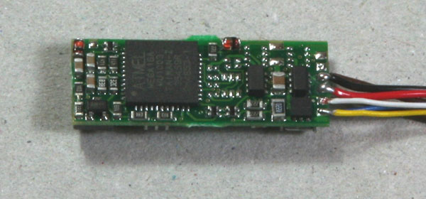 Reverse side of CT GE75 Decoder function wires added